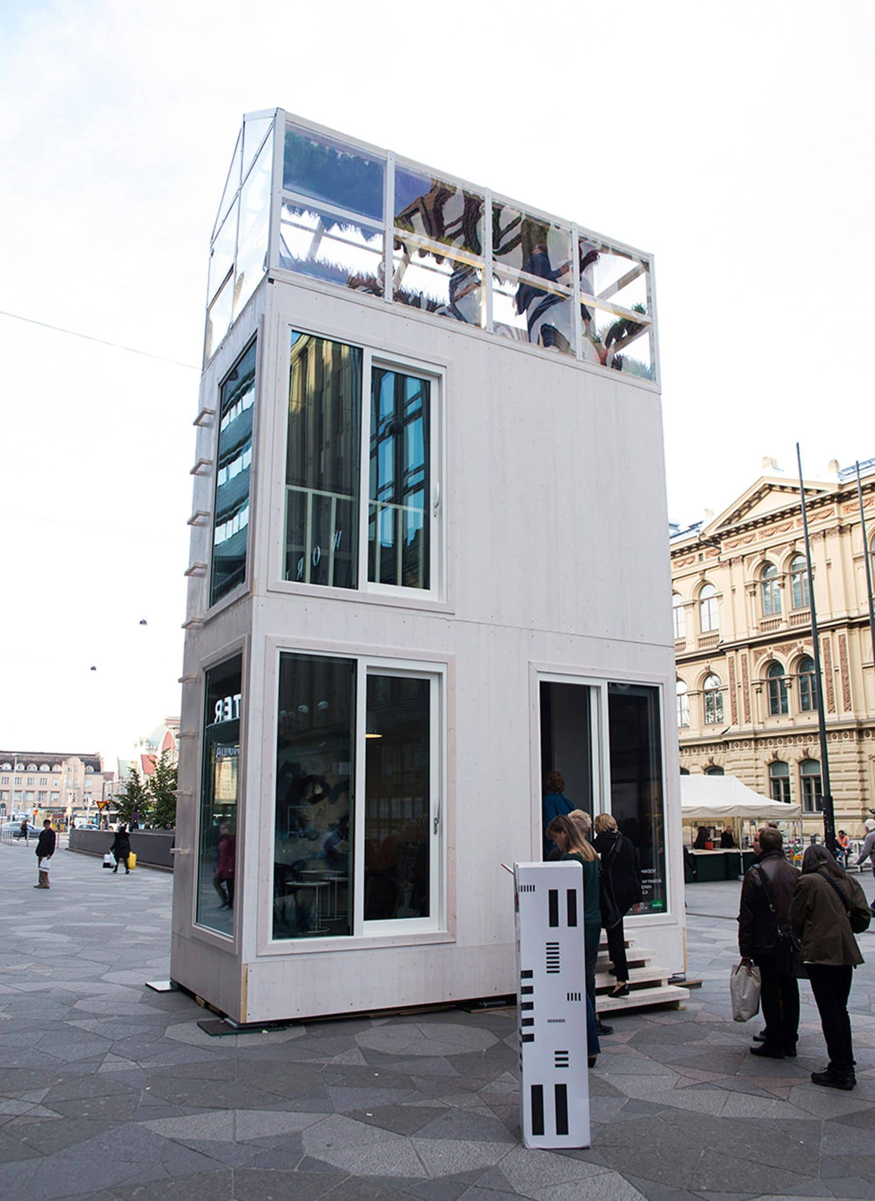 """The tiny house movements seeks to address a number of ecological and social difficulties, one of which is the overcrowding of urban spaces. One fascinating tiny house developed to do just that is the Tikku by Casagrande Laboratory,  also known simply as """"The Stick."""""""