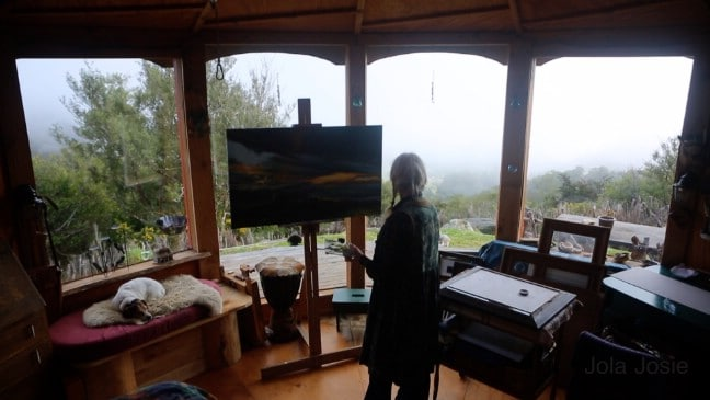Luane Brauner's Rustic Tiny Studio In New Zealand