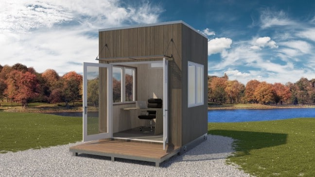 The 8.5'x8.5' Newport Is a Tiny Reimagined Cubicle