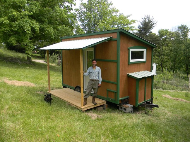 This 8' x 14' Off Grid Cabin is a Tiny House Dream Come True