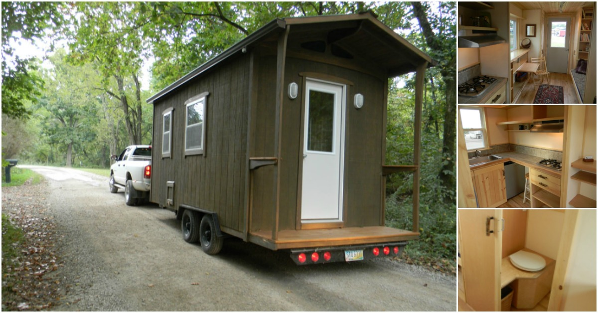 The Yahini Butterfly Cabin Is 8 X 18 Feet Of Genius Design Tiny Houses