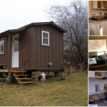 The Yahini Homes 8' x 18' Side Porch Cabin Is a Rustic Beauty