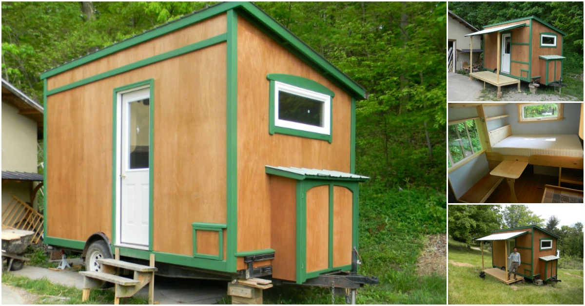 Tiny Home Designs: This 8' X 14' Off Grid Cabin Is A Tiny House Dream Come