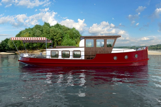 This Tiny Tugboat Features Vintage Glam and Classic Luxury