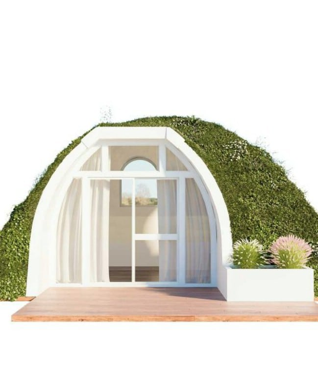 move into a real life hobbit home from green magic homes tiny houses. Black Bedroom Furniture Sets. Home Design Ideas