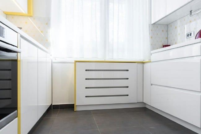 This Beautiful Minimalist Tiny Kitchen Is Positively Luminous