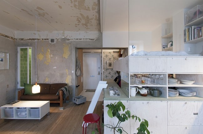 This Tiny Stockholm Apartment Was Once a Furniture Storage Unit