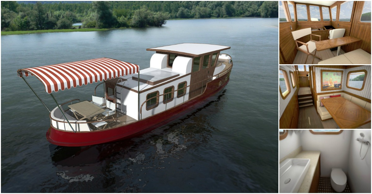 Do It Yourself Home Design: This Tiny Tugboat Features Vintage Glam And Classic Luxury