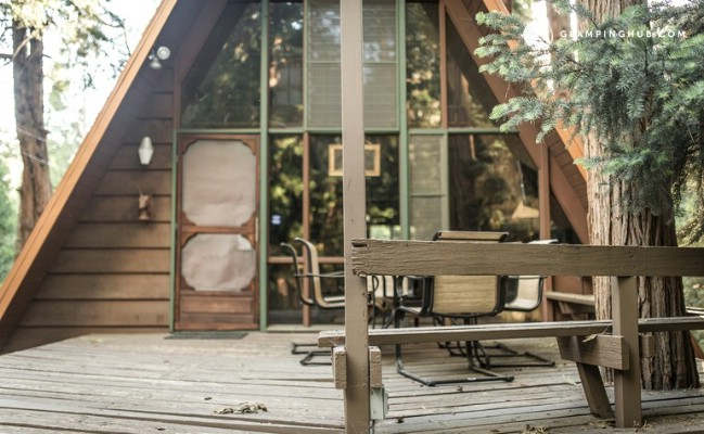 "Go ""Glamping"" in a Cool A-Frame Cabin in San Jacinto"
