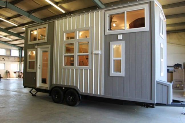 The 22' KoKo Head Tiny House Looks Wide Open Inside