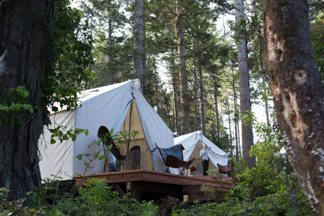 Camp in a Luxurious Tiny Tent at Mendocino Grove
