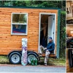 This Snowboarder Built a Tiny House to Call Home in Just One Year