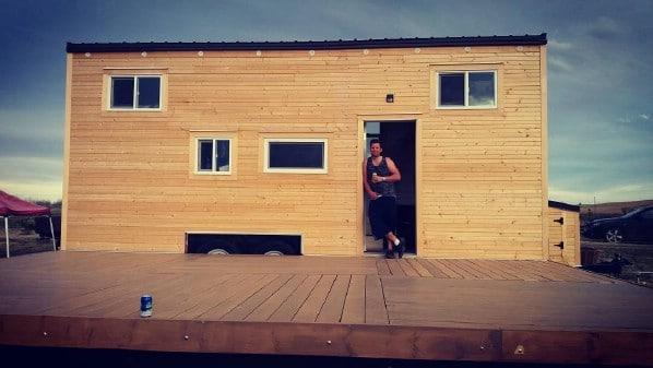 Kevin's Custom Built Crow Tiny House Tour.
