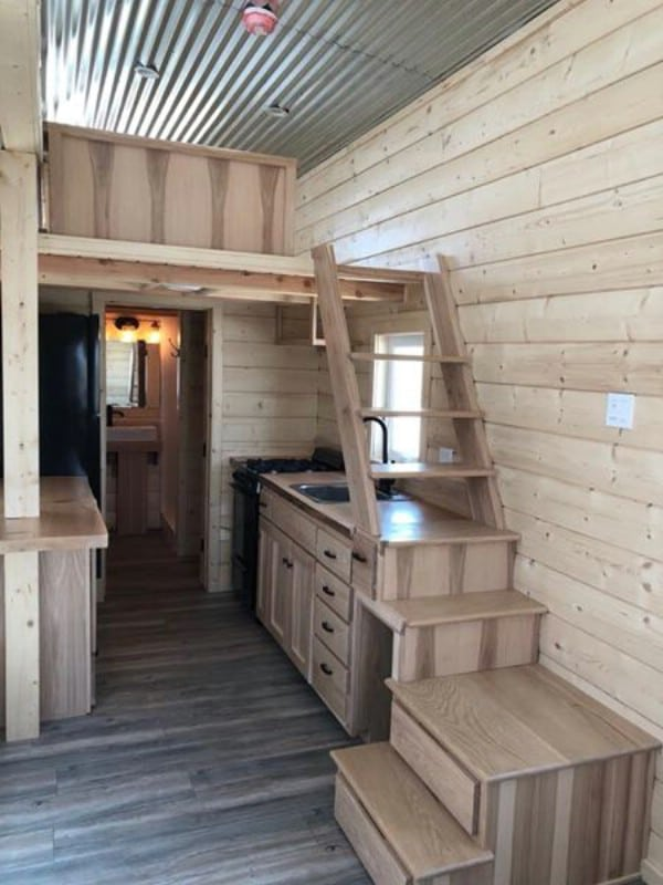 This Unique Custom Tiny House Makes 192 Square Feet Feel Pretty Spacious
