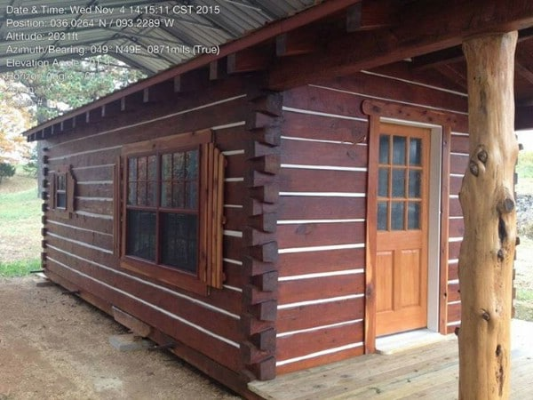 This $21,000 Log Cabin Is a Portable Rustic Gem {For Sale}