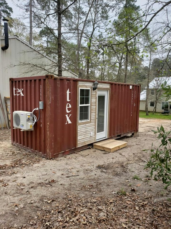 Cool Rustic Vibes Make This a Unique Tiny Container Home