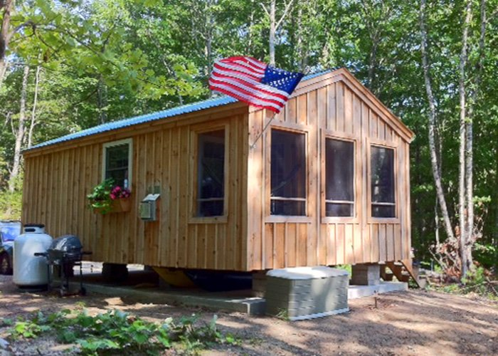 The Vermont Cabin is a Plug-and-Play Tiny House by Solanna Homes