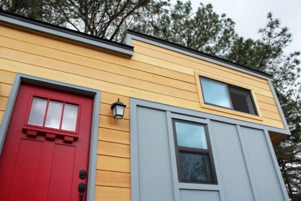 The Juniper is a Modern Tiny House With a Vivid Color Scheme