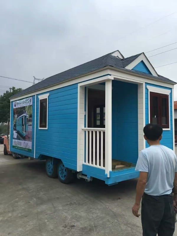 This Cute Blue Tiny House is Only $8,900