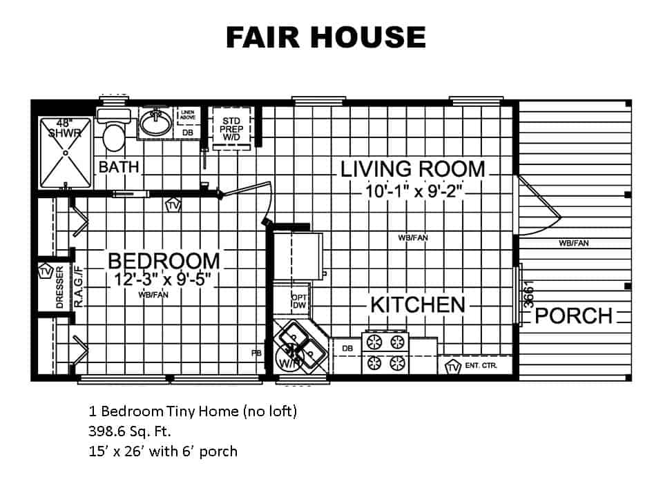 The Fair House is a Fair and Lovely Delight Measuring 398.6 Square Feet