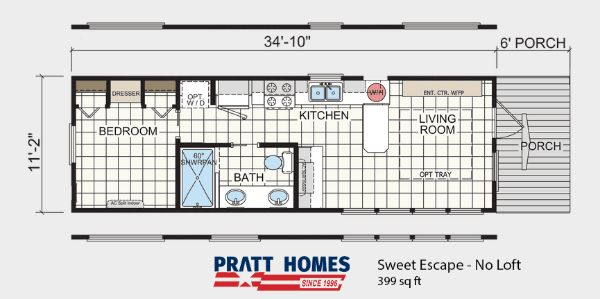 Cozy 399 Square Foot Sweet Escape Tiny House