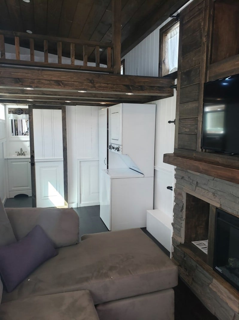 This Cedar Tiny House Features 28' Feet of Sleek Modern Design With Rustic Materials