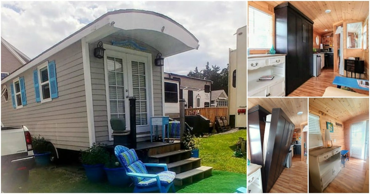 This Adorable 205-Square-Foot Tiny House Looks Like a Gypsy Wagon