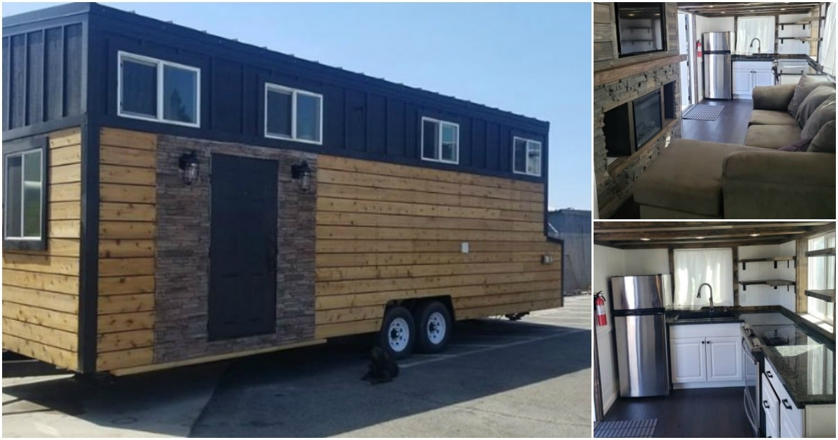 This 28′ Long, 8.5′ Wide Tiny House for Sale is Almost Brand New