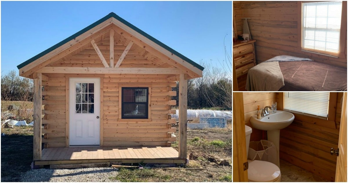 Build Your Own Log Cabin Easily and Economically With This Log Cabin Kit