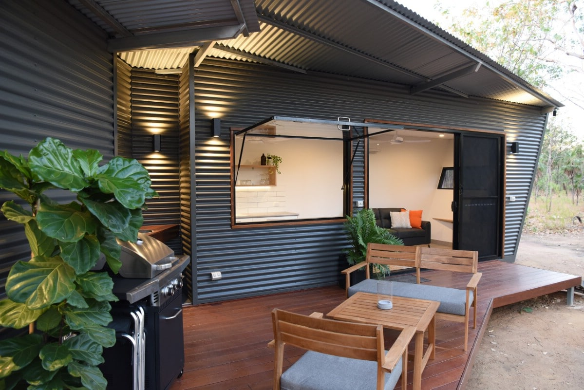 This Double Tiny Shipping Container Home Is a Cozy Dream