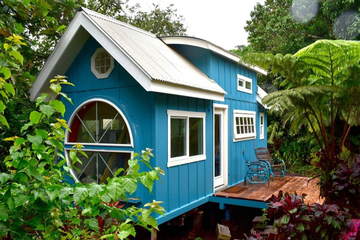 This Cozy Tiny House for Sale is Beautiful in Blue - Tiny Houses