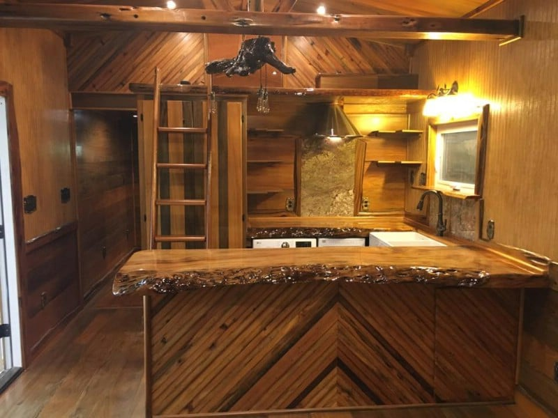 Rose Bud is the Gorgeous Luxury Rustic Tiny House That Proves Less is More
