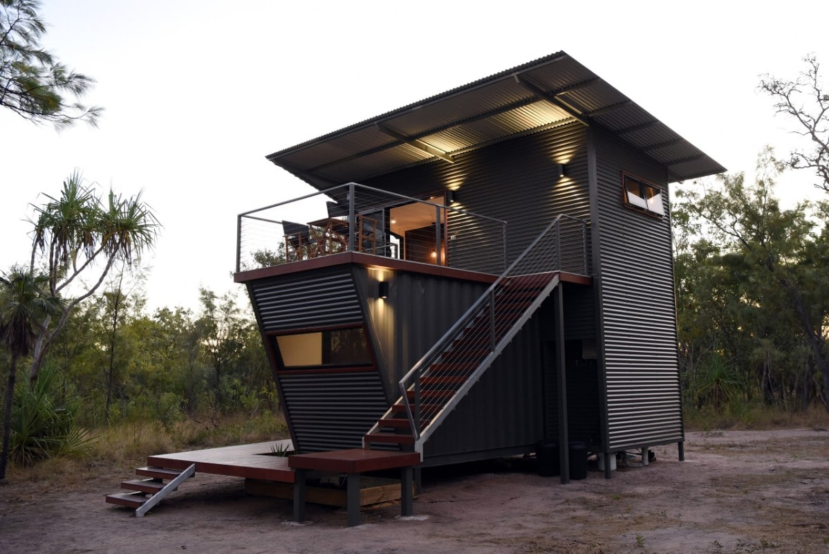This Two-Story Shipping Container House is a Modern Dream