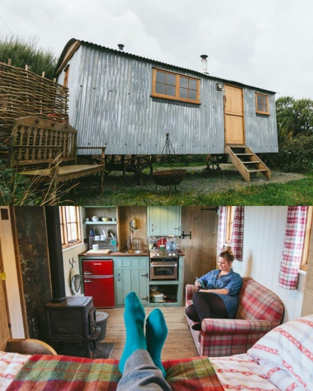 Tiny Cornish Shepherd's Hut