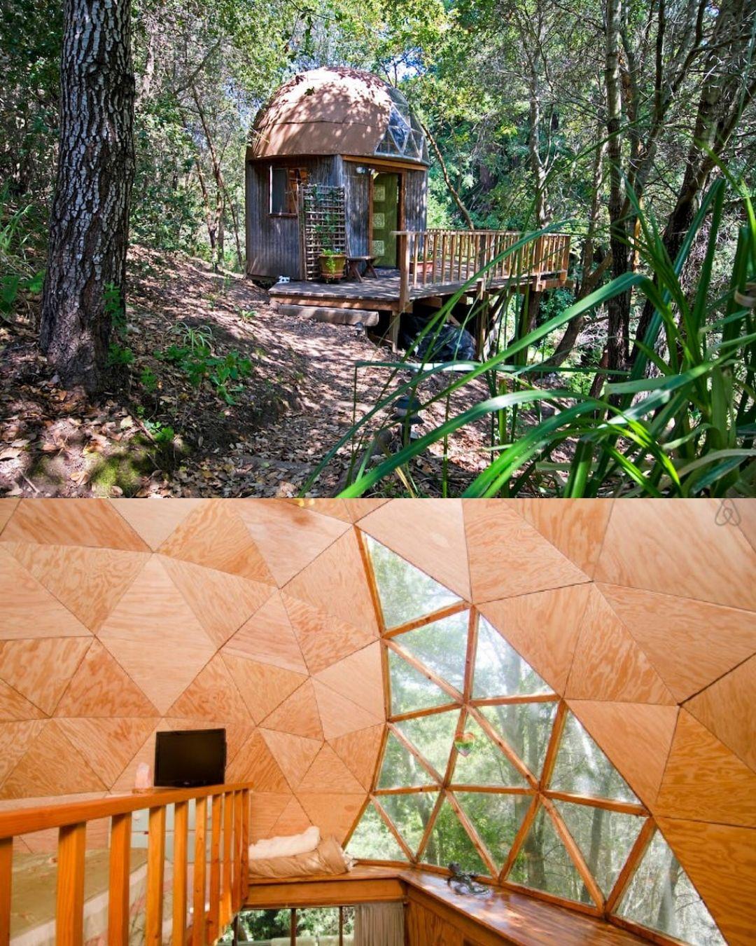 Corrugated Metal Mushroom Dome Tiny House Rental