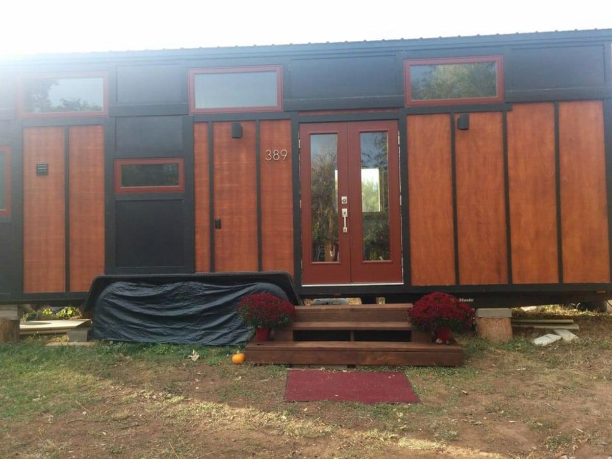 Wood sided tiny home