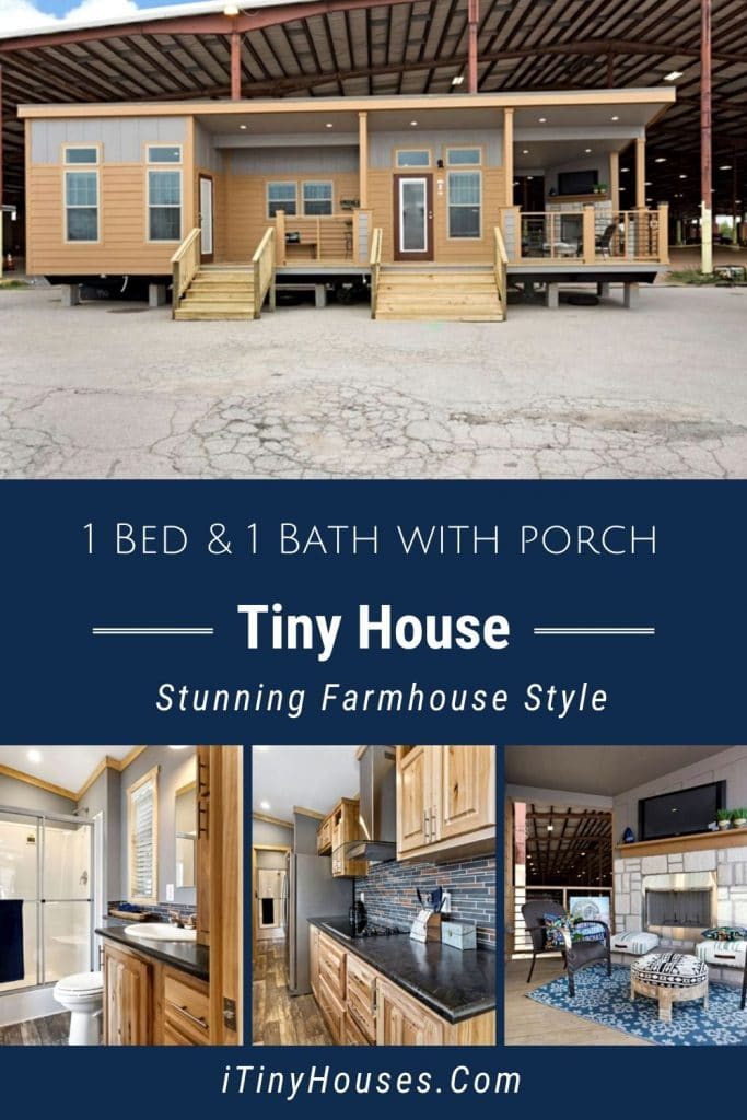 Custom Tiny House with Porch Collage