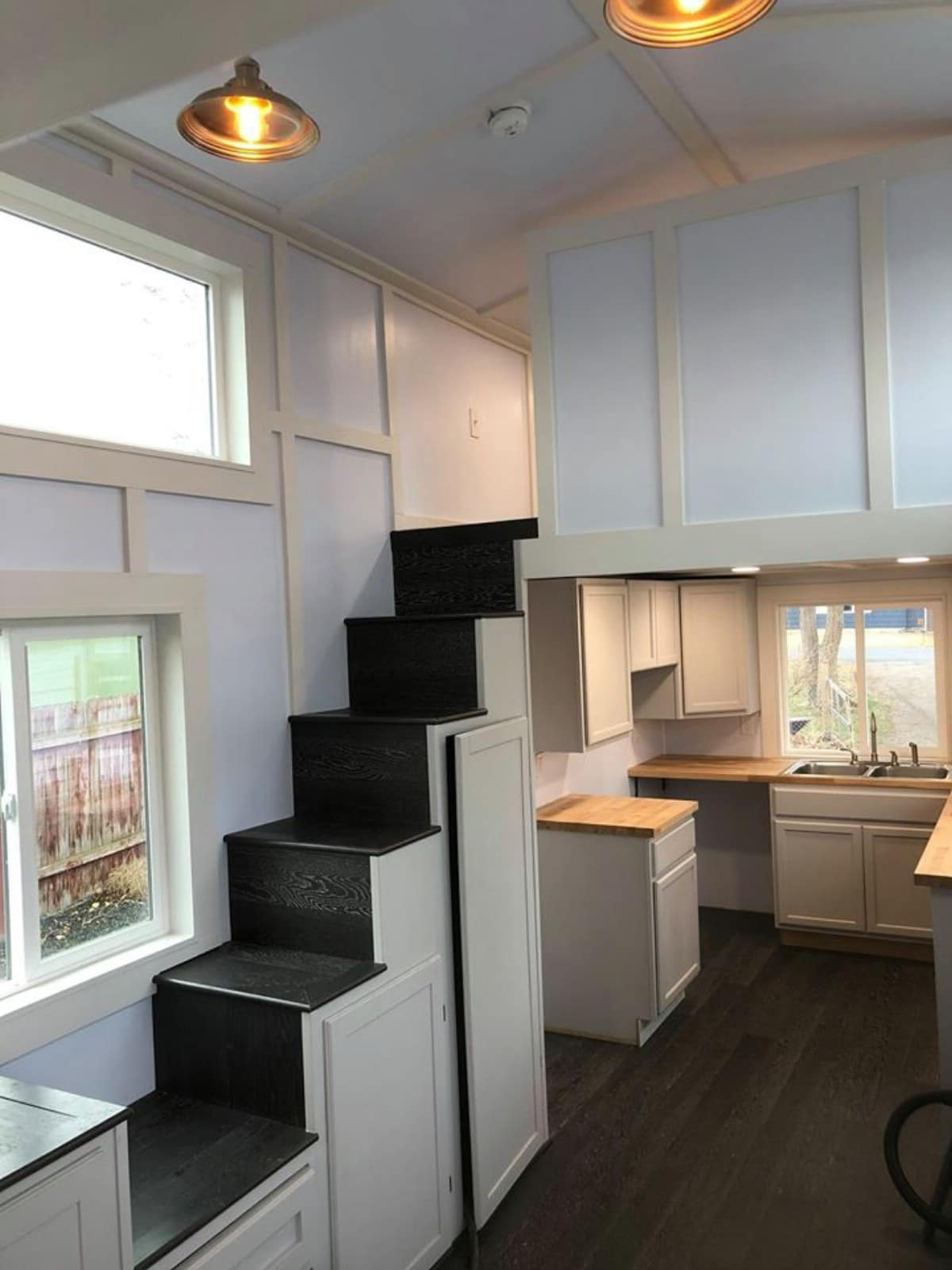 Stairs to loft off kitchen
