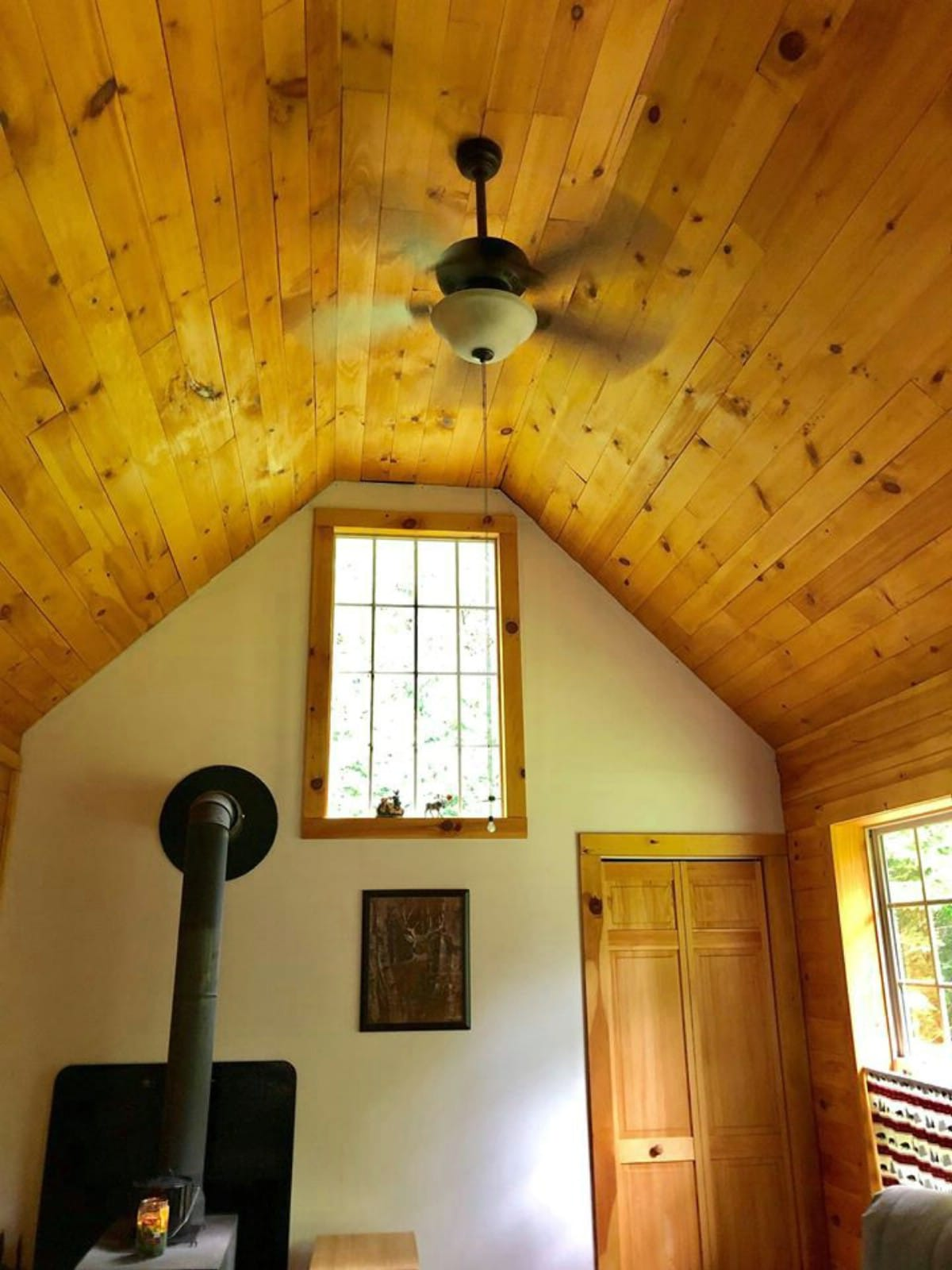 Rustic wood ceiling