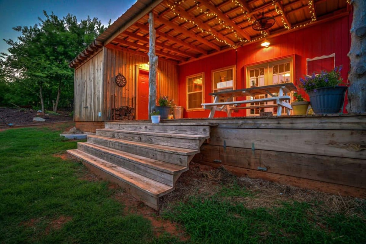 Front porch of tiny house