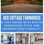 Red cottage farmhouse collage