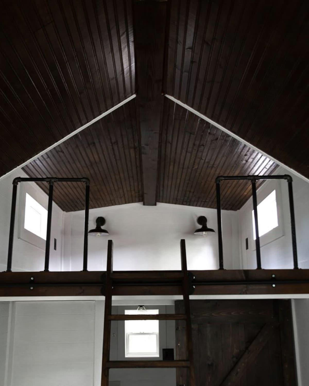 Loft in tiny house custom build