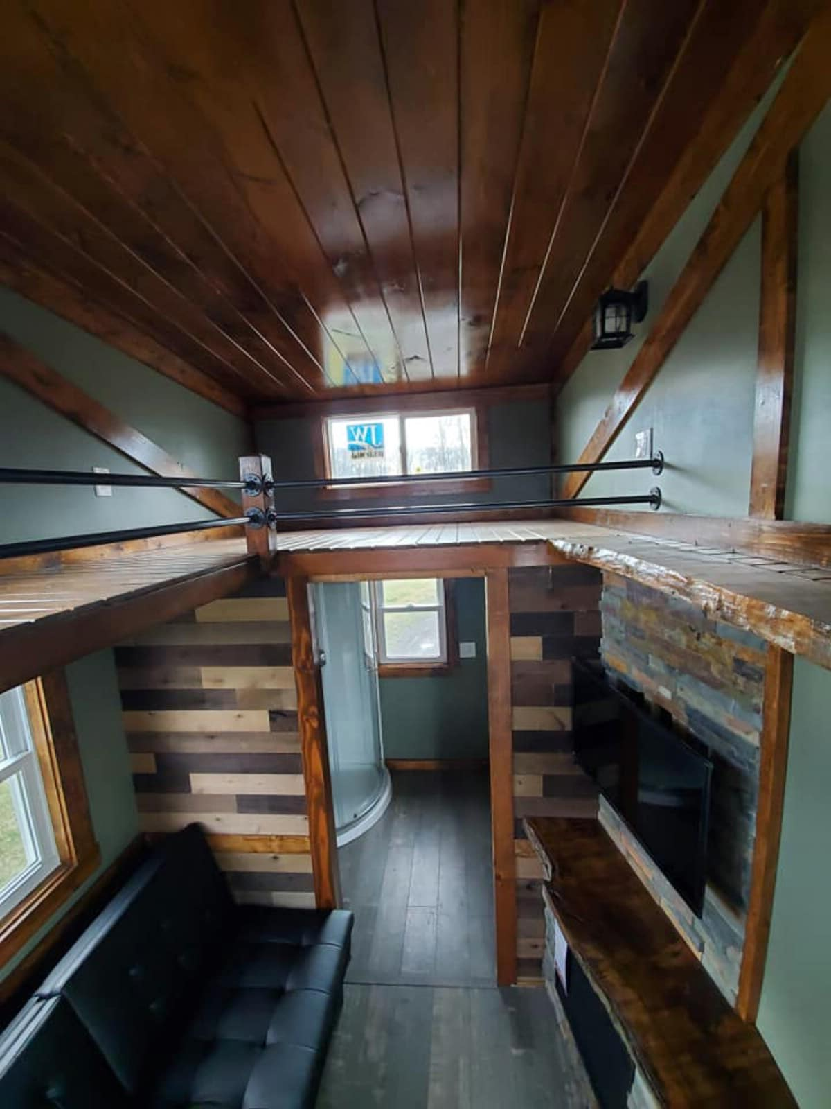 Loft above bathroom