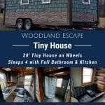 Woodland Escape Tinyhouse Collage