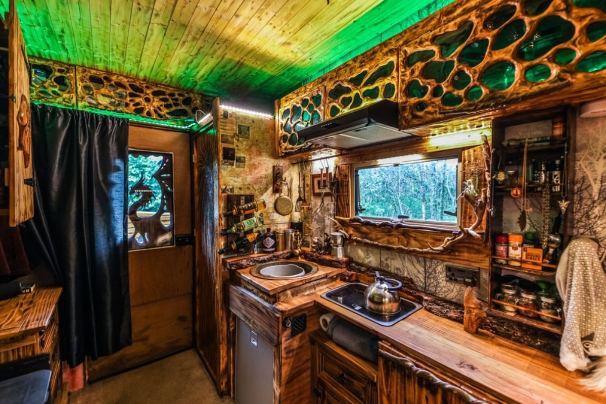 Van converted tiny house