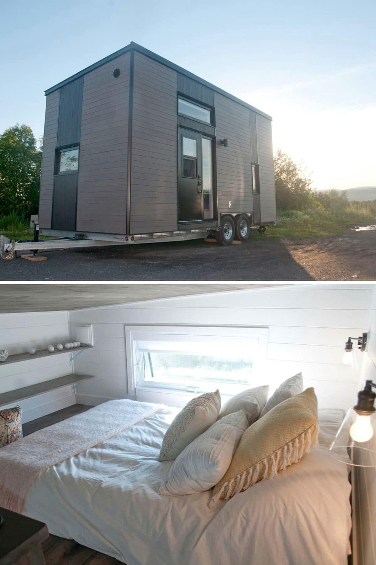 Cozy Little Loft With Built-In Shelves