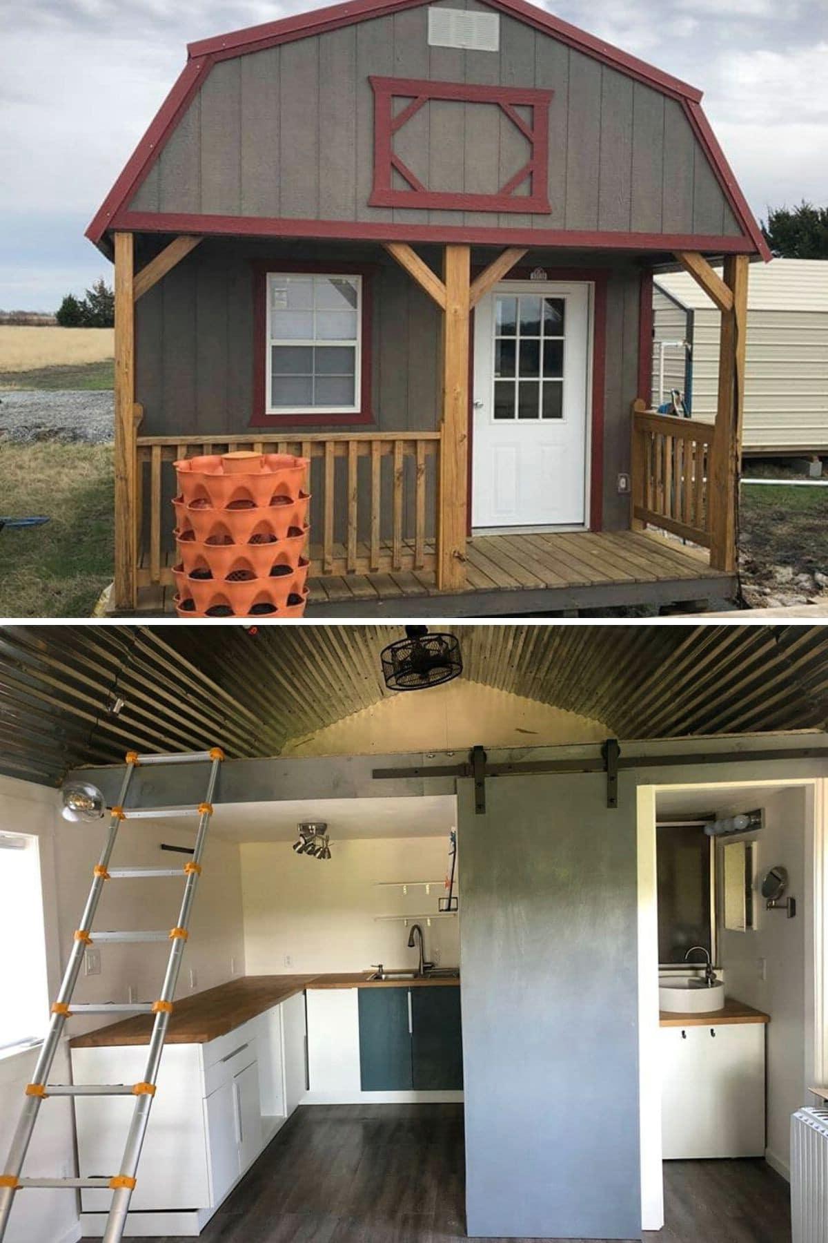 Tiny Barn With Rustic Loft