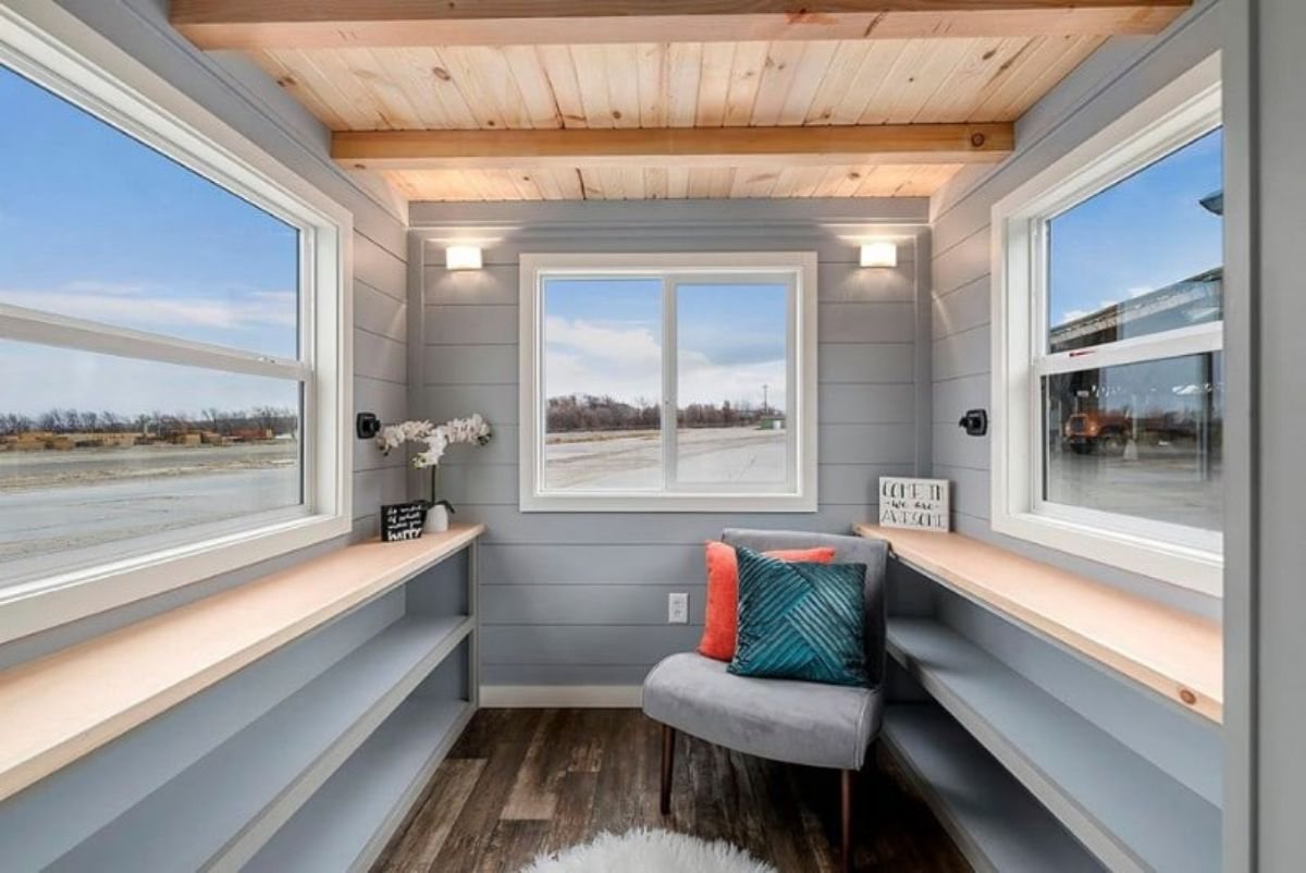 A Light-Drenched Tiny House With Optional Downstairs Bedroom Zone