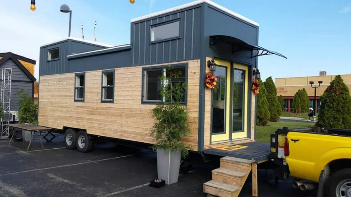Hawk Tiny Homes First Model With Downstairs Bedroom