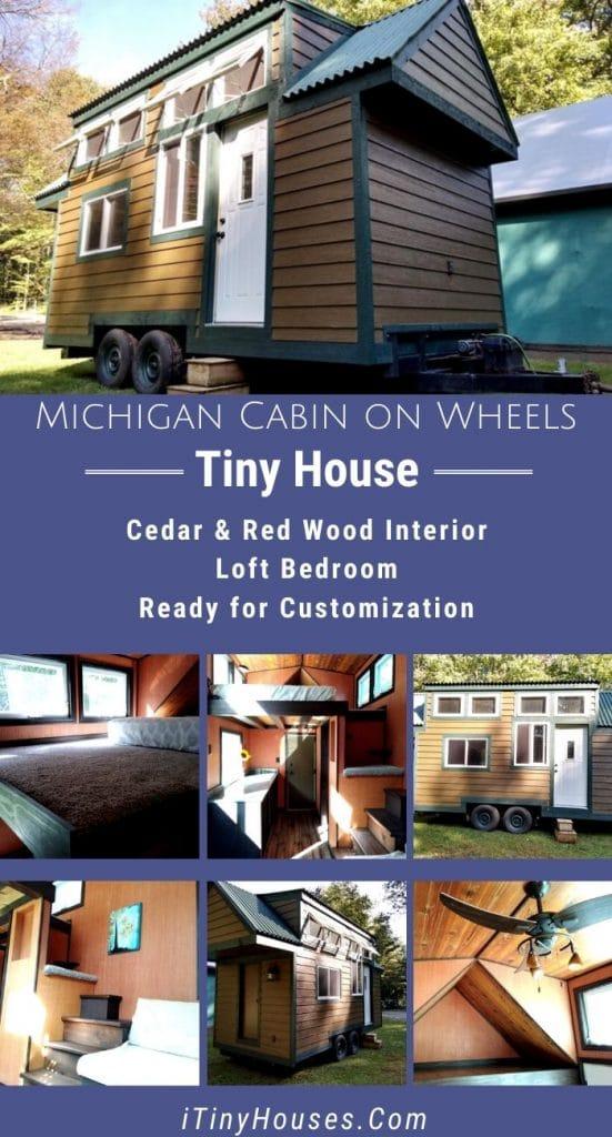 Michigan custom cabin collage